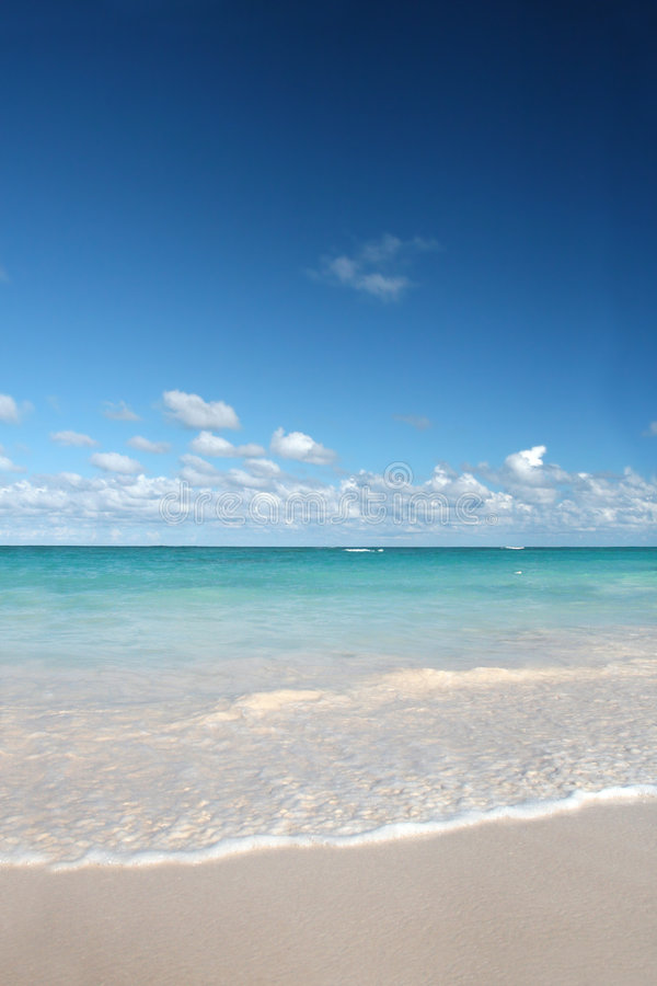 Tropical White Sands Beach, Caribbean Ocean royalty free stock images