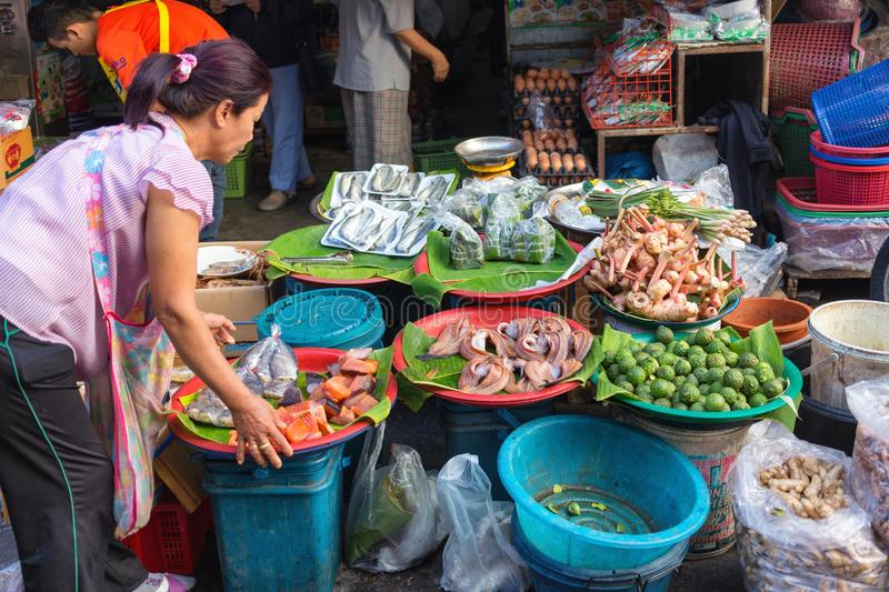 Tropicals fruits in Thai market royalty free stock photography