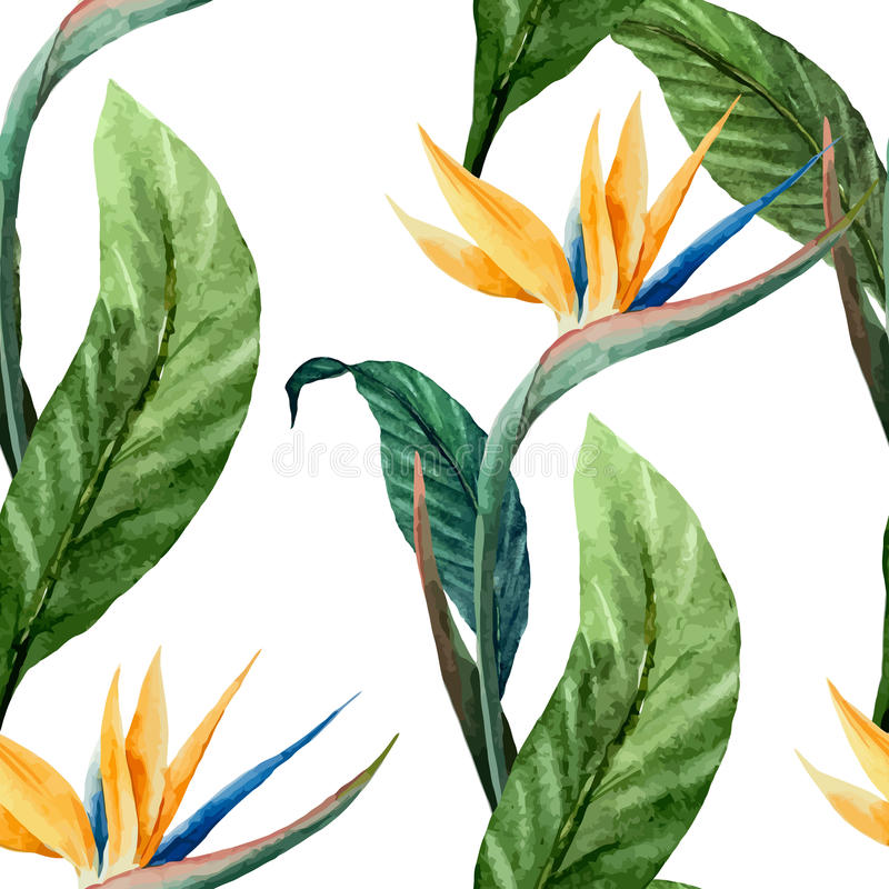 Tropicpattern7 stock illustrationer