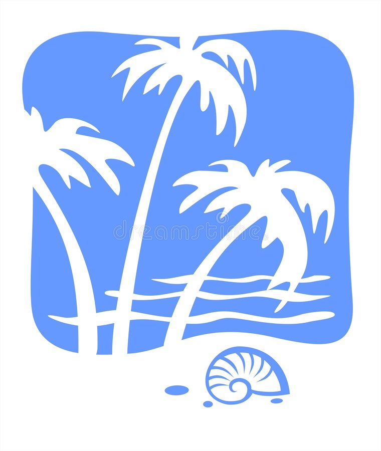 Tropics and cockleshell royalty free stock photos