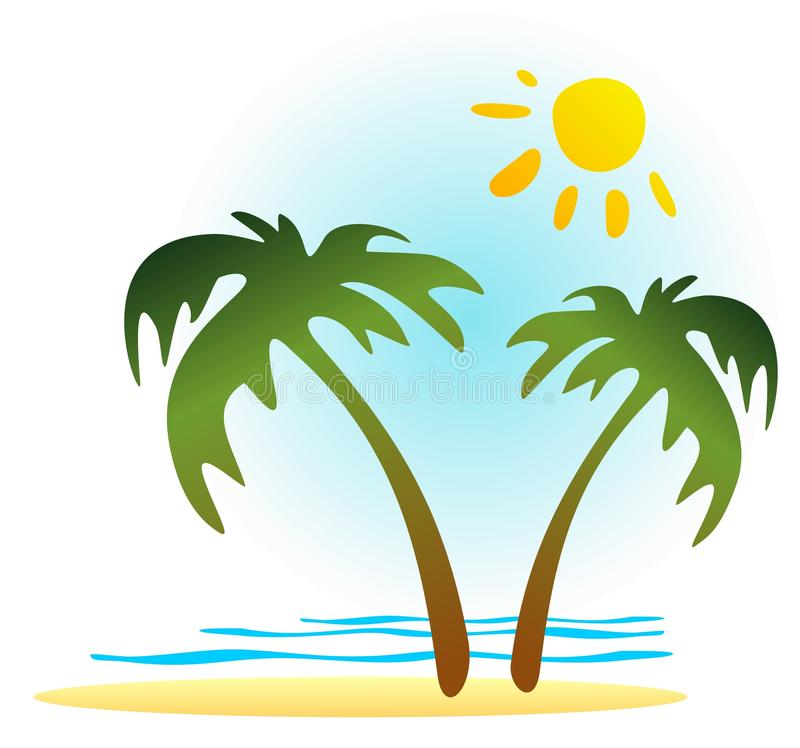Download Tropics paradise stock vector. Image of graphics, silhouette - 24431132