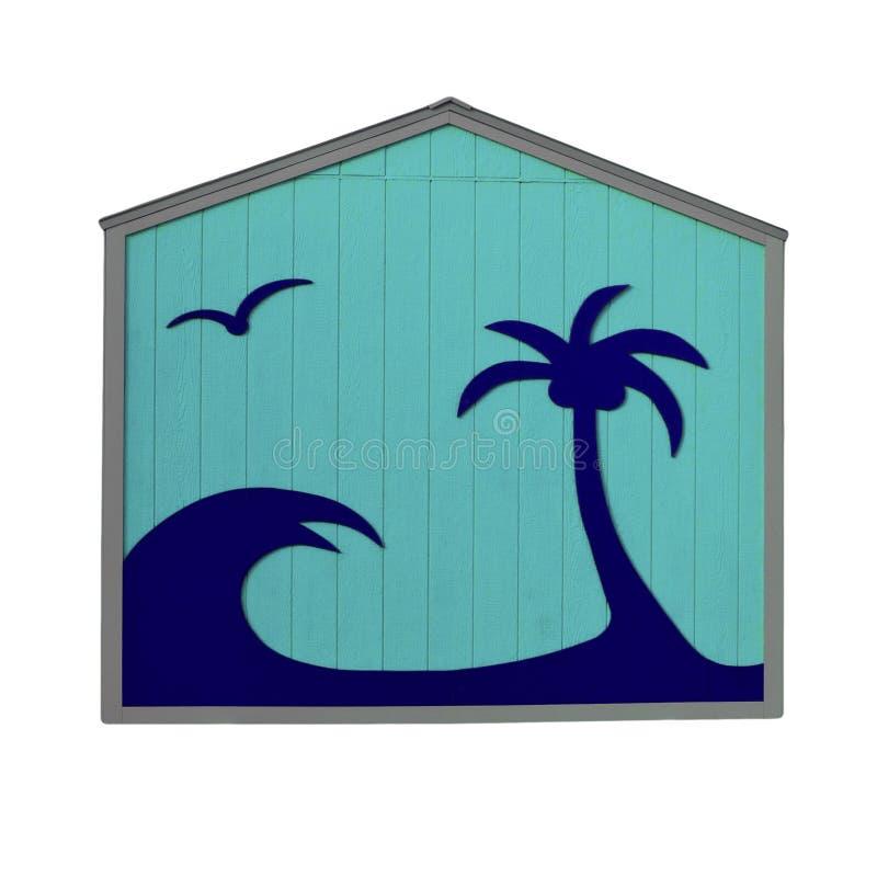tropikalna błękitny buda zdjęcie stock