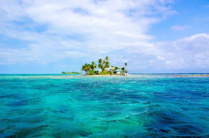 Tropikalna i raj ma?a wyspa w morzu karaibskim Belize Ameryka ?rodkowa obraz stock