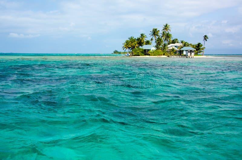 Tropikalna i raj ma?a wyspa w morzu karaibskim Belize Ameryka ?rodkowa zdjęcie stock