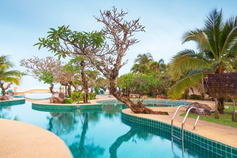 Tropikalna kurort sceneria przy wschodem słońca obraz royalty free
