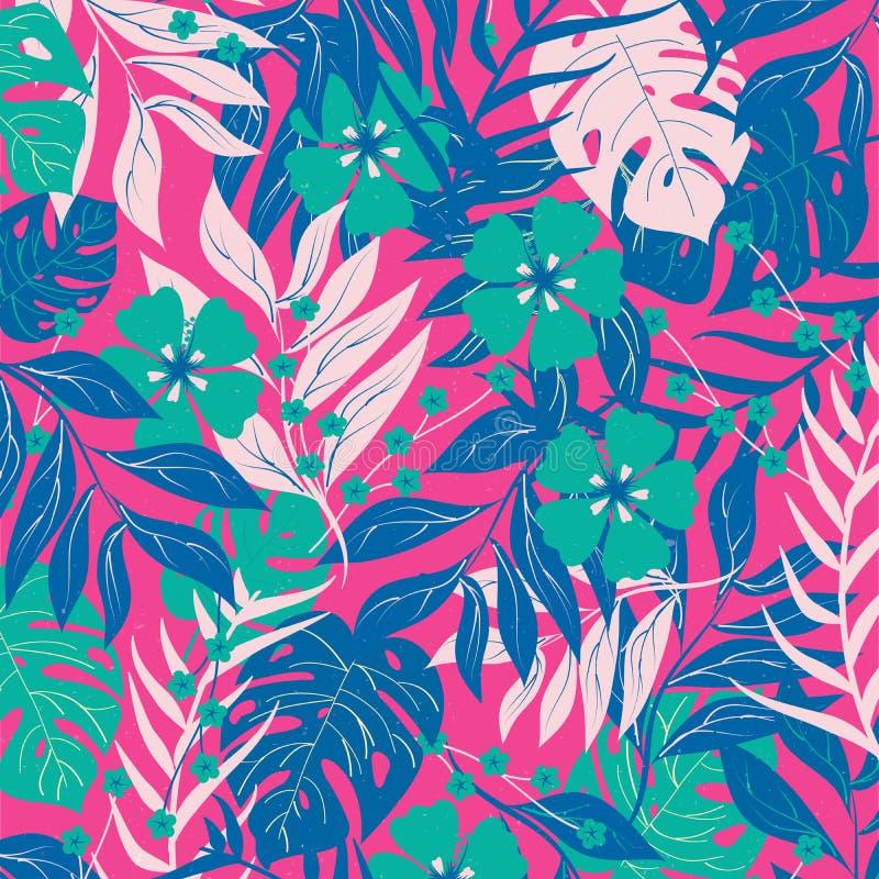 Tropikalna lasowa paproci pokrywy wektoru ilustracja fotografia royalty free