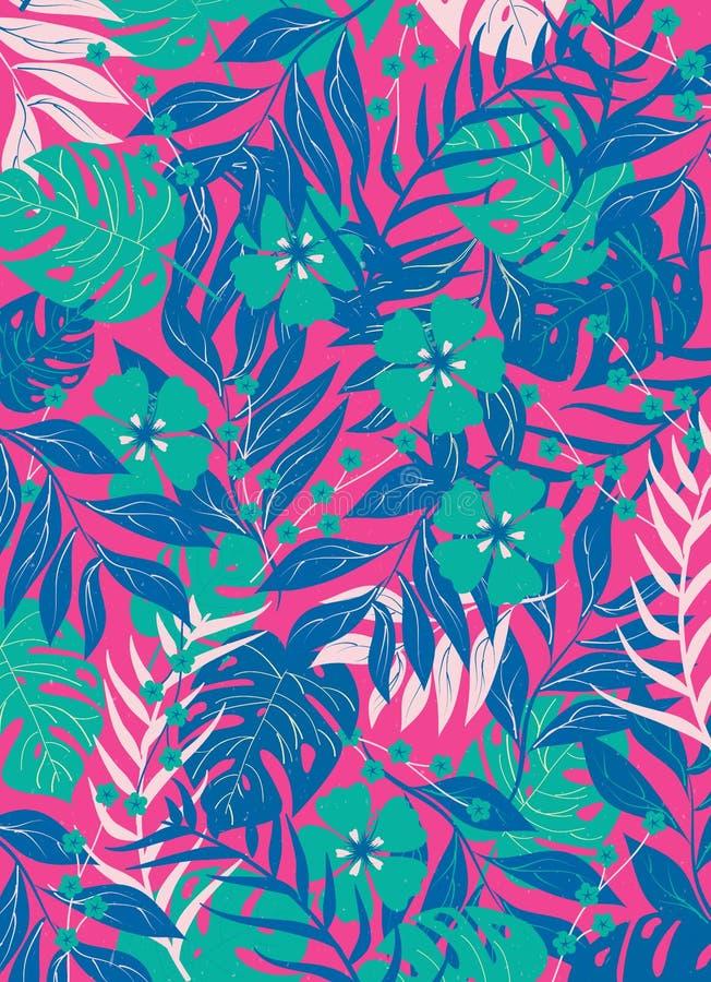 Tropikalna lasowa paproci pokrywy wektoru ilustracja obrazy royalty free