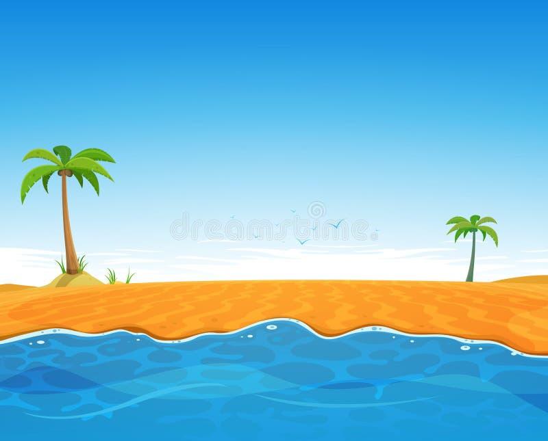 Tropikalna lato plaża ilustracji