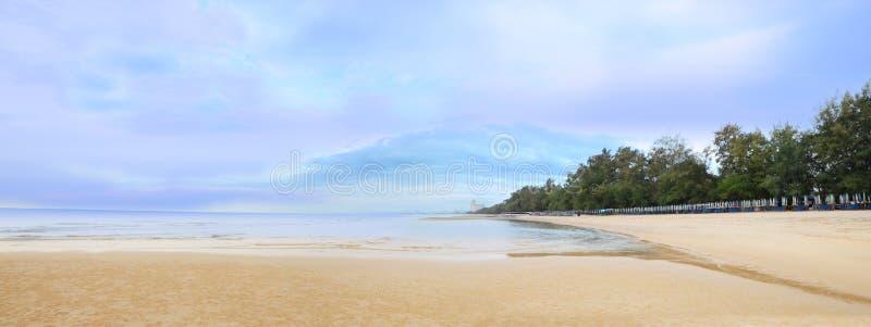 Tropikalna panoramy plaża obraz stock