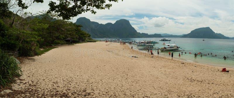 Tropikalna plaża, El Nido obraz stock