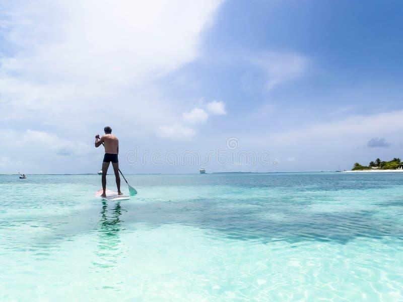 Tropikalna plaża przy archipelagiem Los Roques, Wenezuela obrazy stock