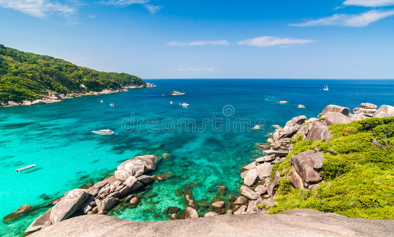 Tropikalna plaża, Similan wyspy obraz royalty free
