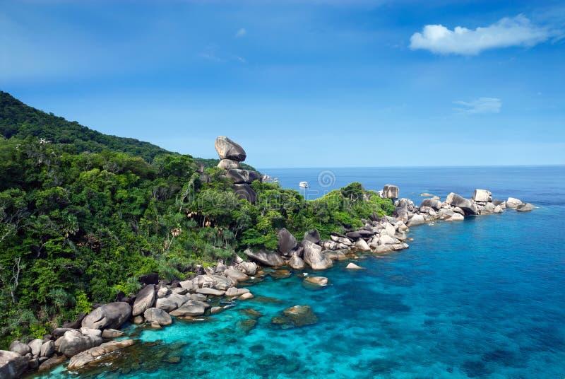 Tropikalna plaża, Similan wyspy, Andaman morze zdjęcie royalty free