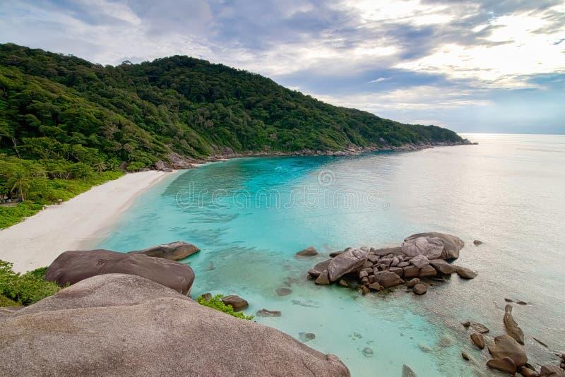 Tropikalna plaża, Similan wyspy, Andaman morze obraz royalty free