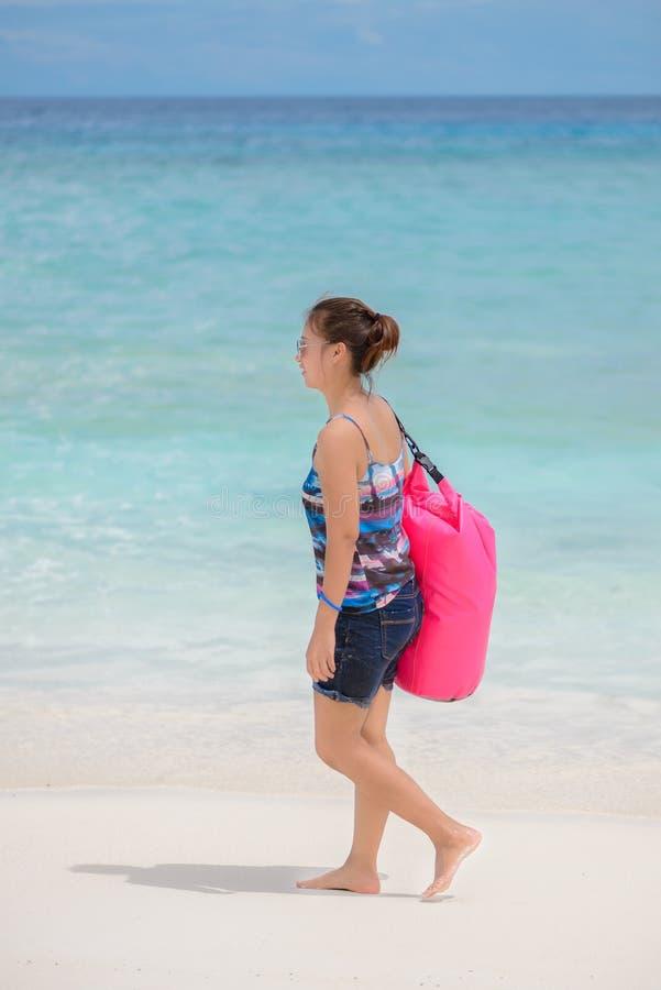 Tropikalna plaża, Similan wyspy, Tachai wyspa, Andaman morze, Tajlandzki obrazy stock