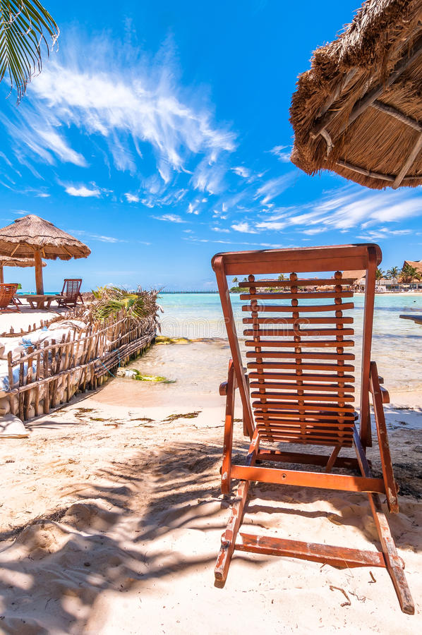 Tropikalna plaża w Isla Mujeres, Meksyk obrazy stock