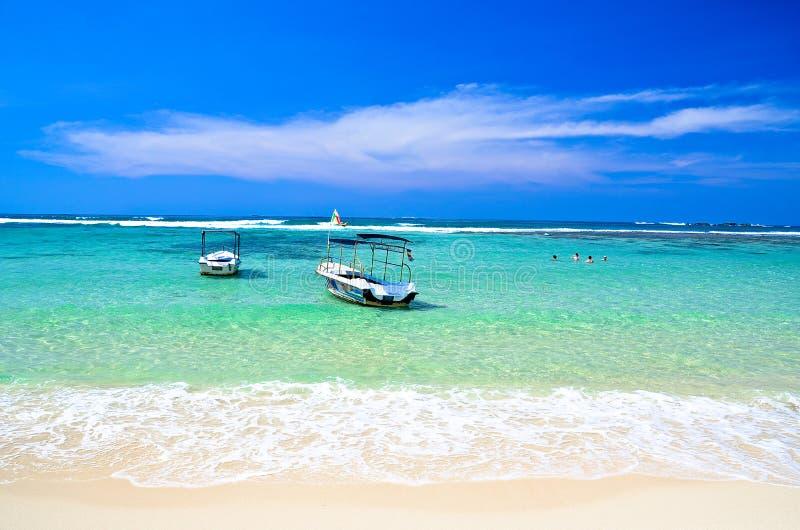 Tropikalna plaża w Sri Lanka obraz royalty free