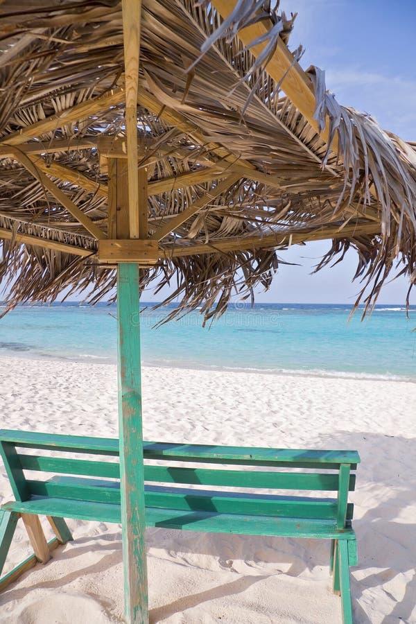 tropikalna plażowa buda zdjęcie stock