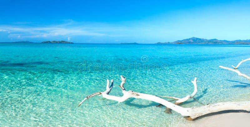 tropikalna plażowa panorama obrazy stock