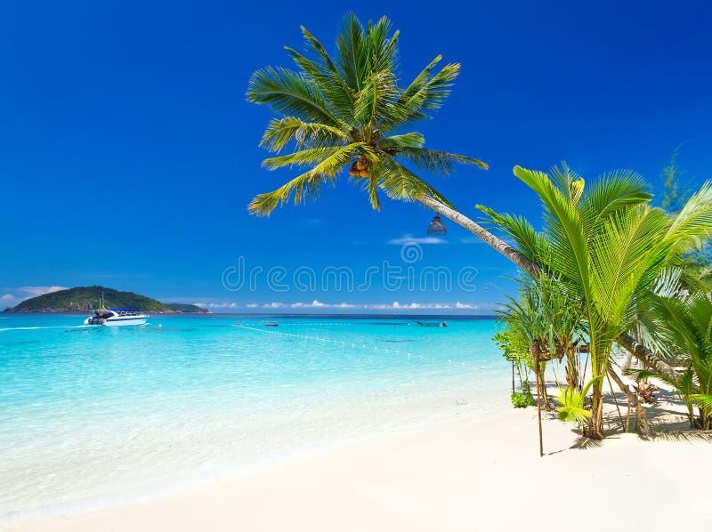 Tropikalna plażowa sceneria w Tajlandia zdjęcia royalty free