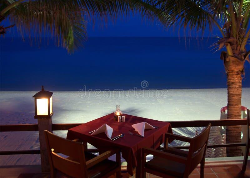 Tropikalna restauracja obrazy stock