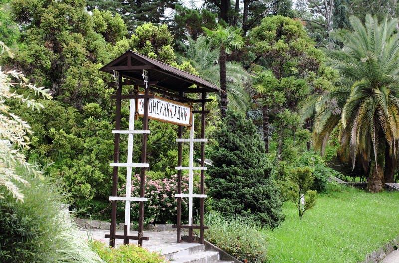 Tropikalna roślinność i japończyka ogród zdjęcie stock
