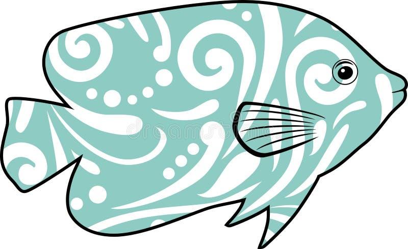 Tropikalna ryba odizolowywająca na białym tle dla projekta royalty ilustracja