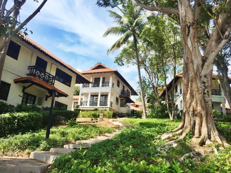 Tropikalna willa przy kurortami w Indonezja fotografia stock