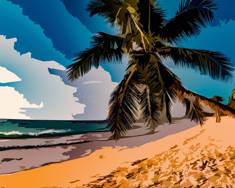 Tropikalna wizyta royalty ilustracja