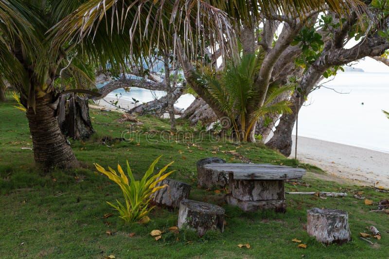 Tropikalna wyspa - laguny Benga wyspa drucik obrazy royalty free