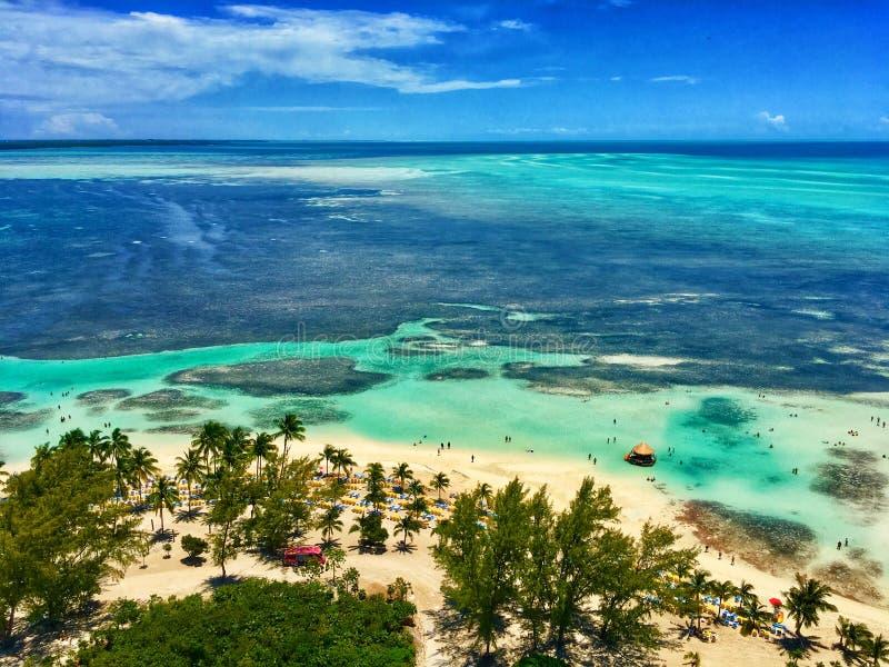 Tropikalna wyspa w Bahamas zdjęcie royalty free