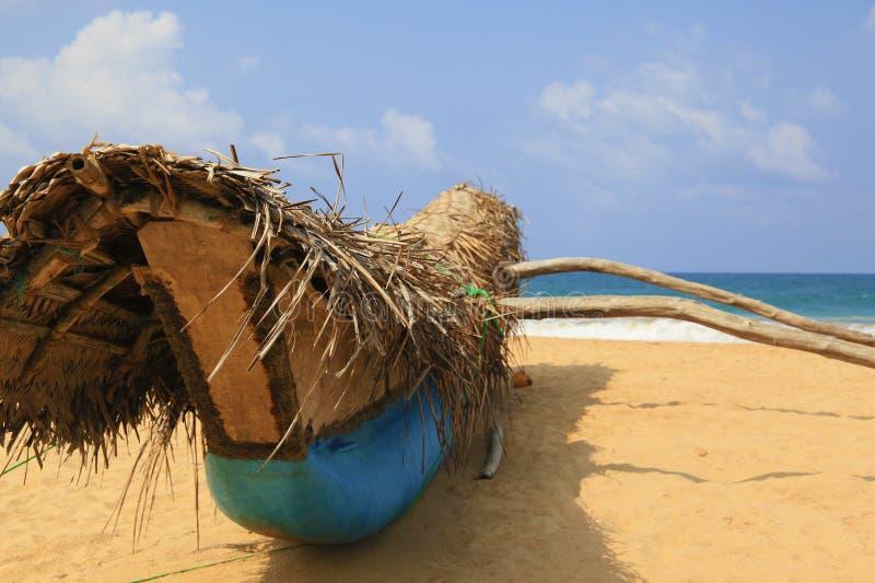 tropikalne plażowe łodzie Sri Lanka, Hikkaduwa obrazy stock