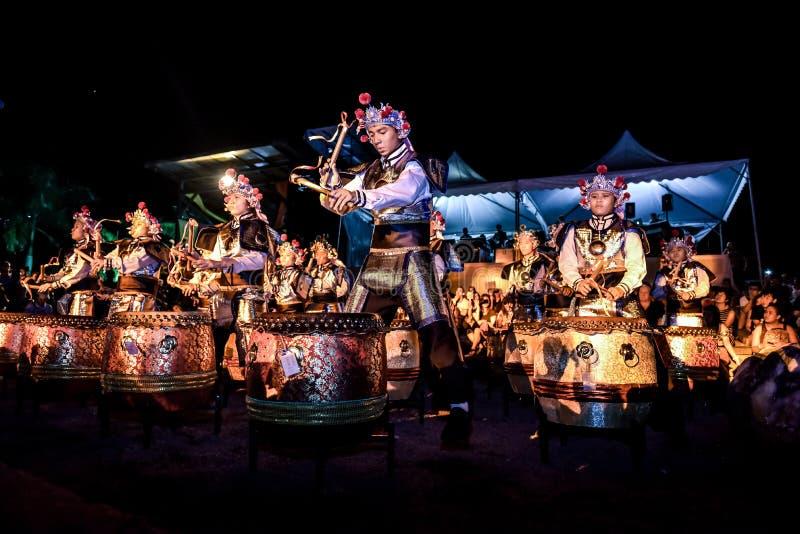 Tropikalnego lasu deszczowego Światowy festiwal muzyki 2016 fotografia royalty free