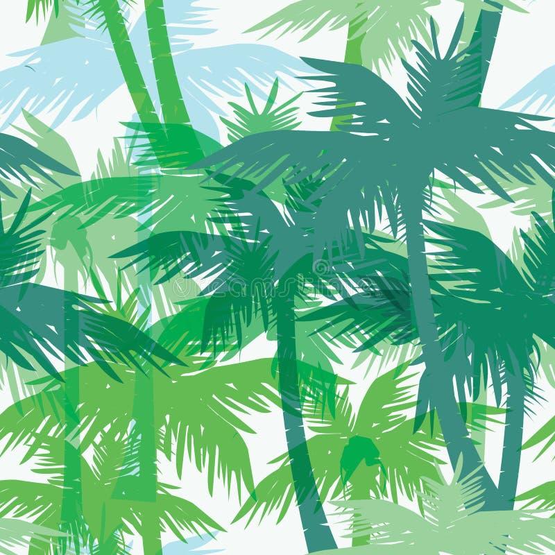 Tropikalnego lata bezszwowy druk z palmą ilustracja wektor