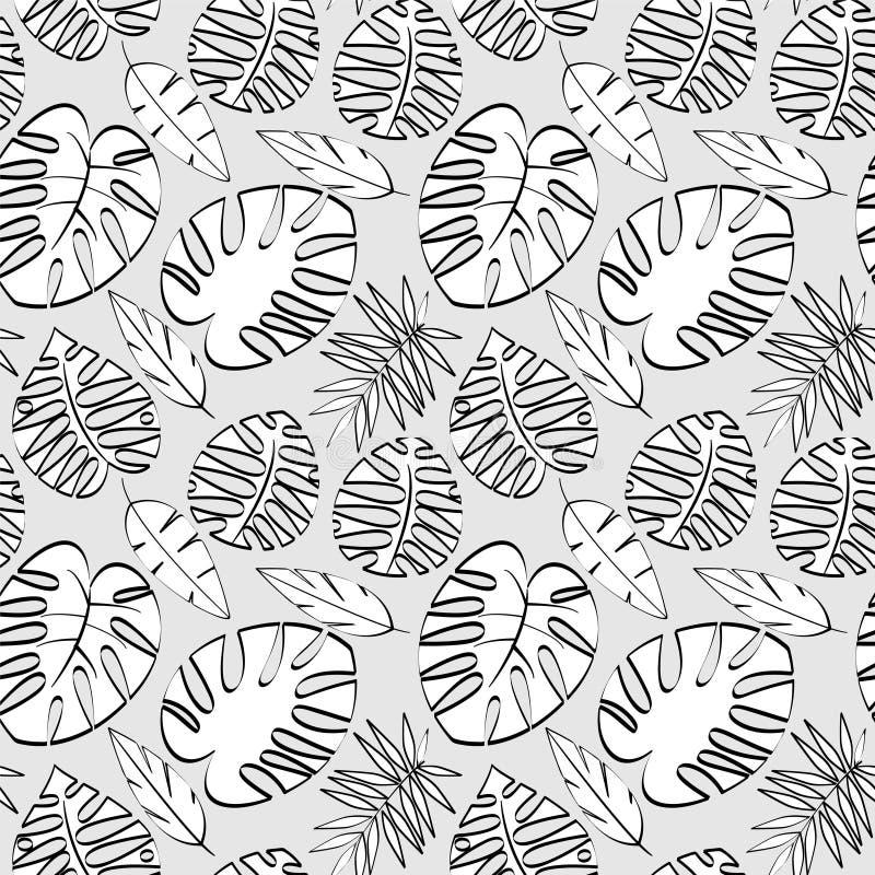 Tropikalnego liścia Wektorowy Bezszwowy wzór lub tło ilustracja wektor