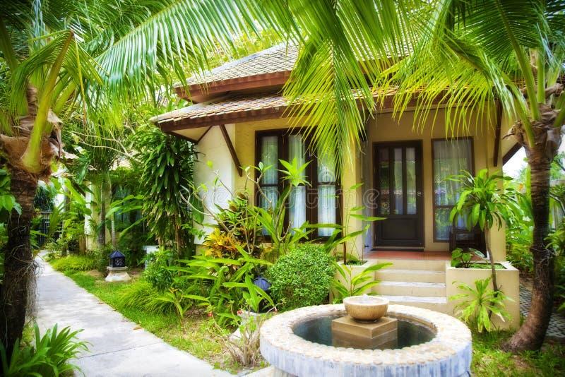 Tropikalny dom obraz royalty free