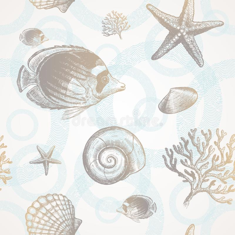 tropikalny fauny underwater ilustracja wektor