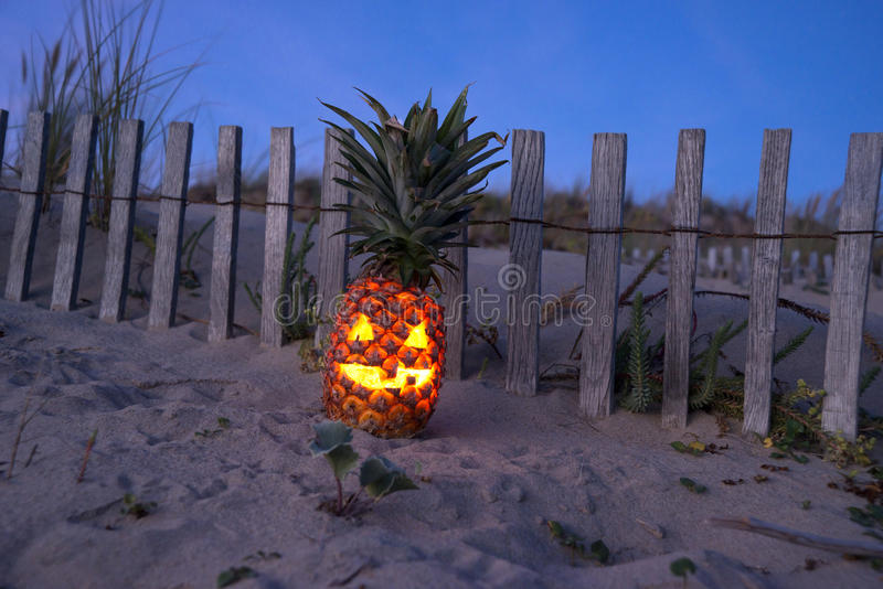 Download Tropikalny Halloweenowy Ananas Obraz Stock - Obraz: 33535883