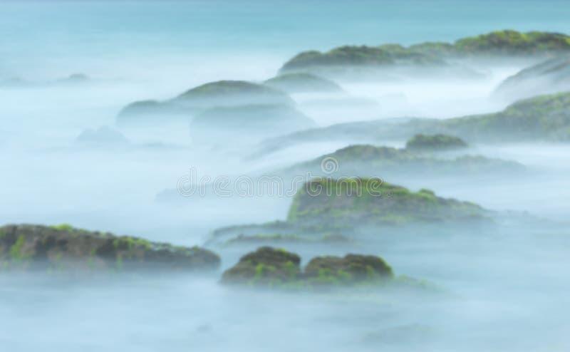 Tropikalny krajobraz jako kreatywnie abstrakcjonistyczny plamy tło zdjęcie royalty free