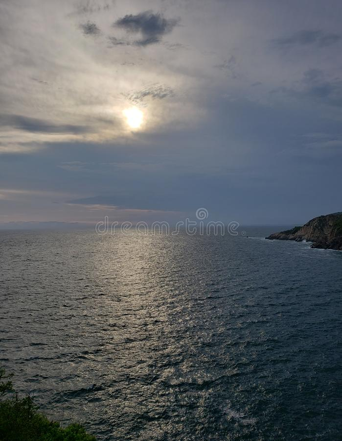 tropikalny krajobraz w tradycyjnym terenie Acapulco, Meksyk obrazy royalty free