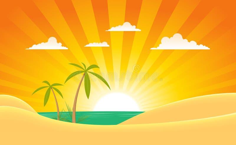 tropikalny krajobrazowy wyspy lato ilustracja wektor