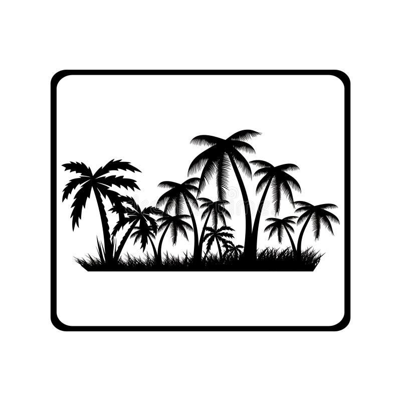 tropikalny krajobrazu ilustracji