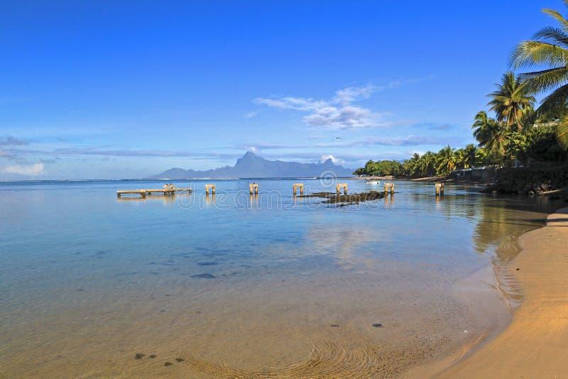 Tropikalny kurort Tahiti fotografia stock