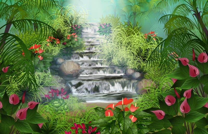 tropikalny las deszczowy cudowny royalty ilustracja