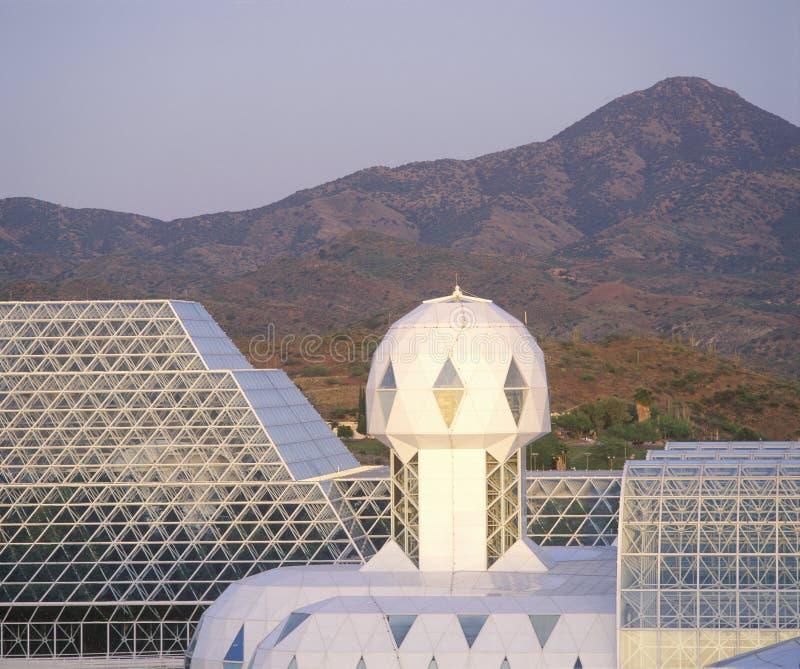Tropikalny las deszczowy i żywe ćwiartki biosfera 2 przy Oracle w Tucson, AZ zdjęcie royalty free