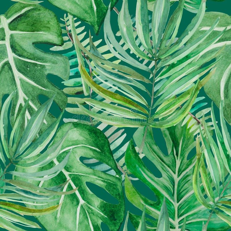 Tropikalny las w khakich kolorach ilustracja wektor