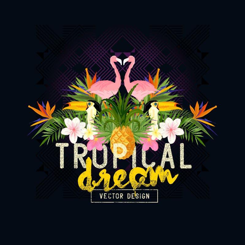 Tropikalny lato wektor royalty ilustracja