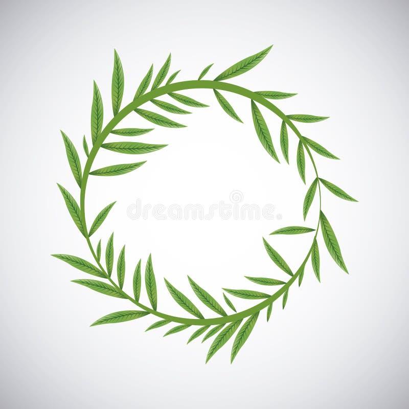 Tropikalny liścia projekt Liść ikona naturalny pojęcie, wektorowa ilustracja ilustracja wektor