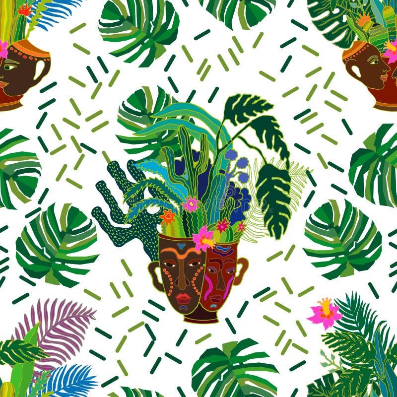 Tropikalny magiczny las ilustracja wektor
