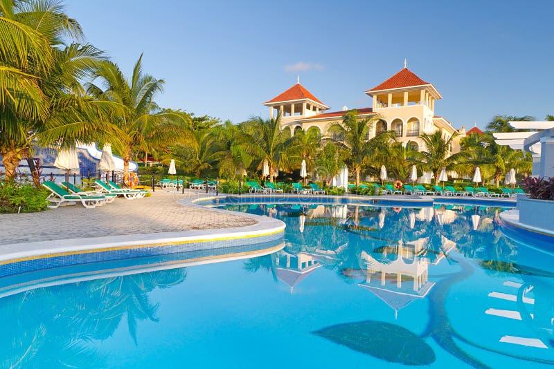 tropikalny Mexico luksusowy kurort zdjęcia royalty free